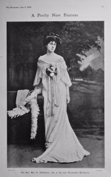 A Pretty New Peeress : The Hon. Mrs. A. Skeffington, who is the new Viscountess Massereene.  1905.