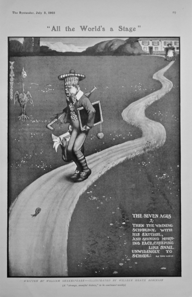 """""""All the World's a Stage"""".  1905."""