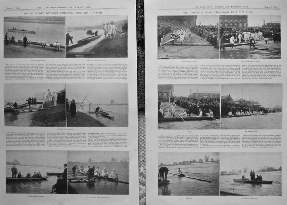 The University Boat-Race.  1897.