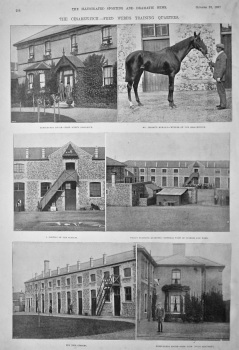 The Cesarewitch.- Fred Webb's Training Quarters.  1897.