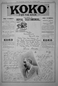 'KOKO' for the Hair.  1897.