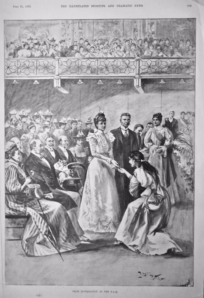 Prize Distribution at the R.A.M.  1897.
