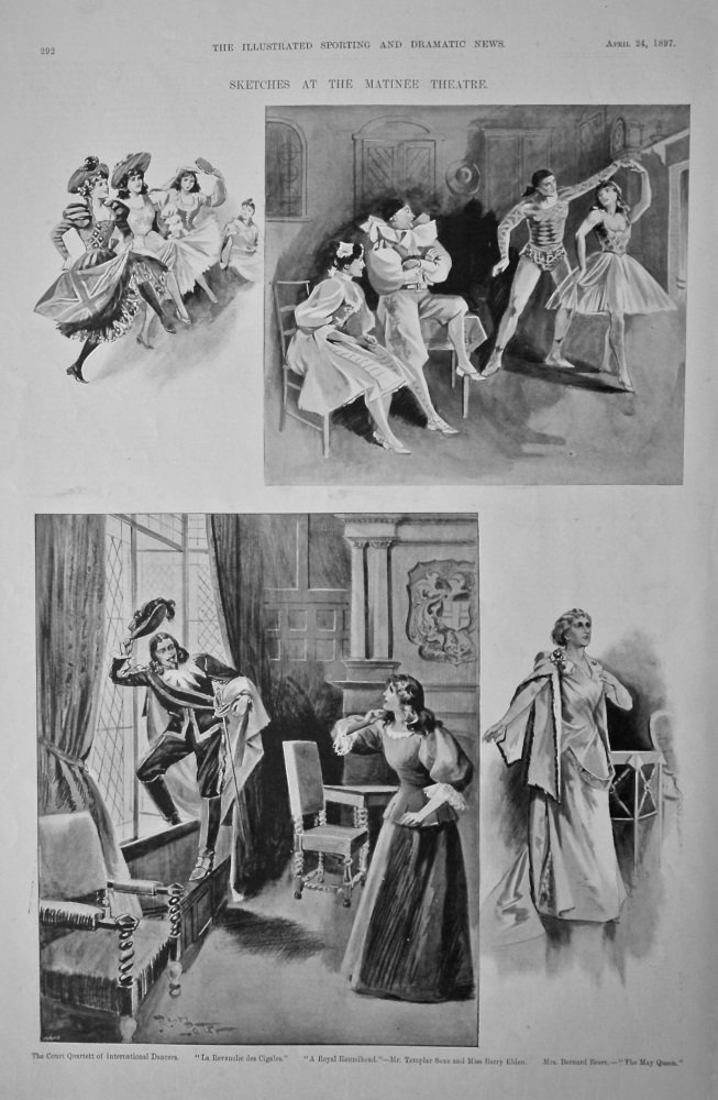 Sketches at the Matinee Theatre.  1897.