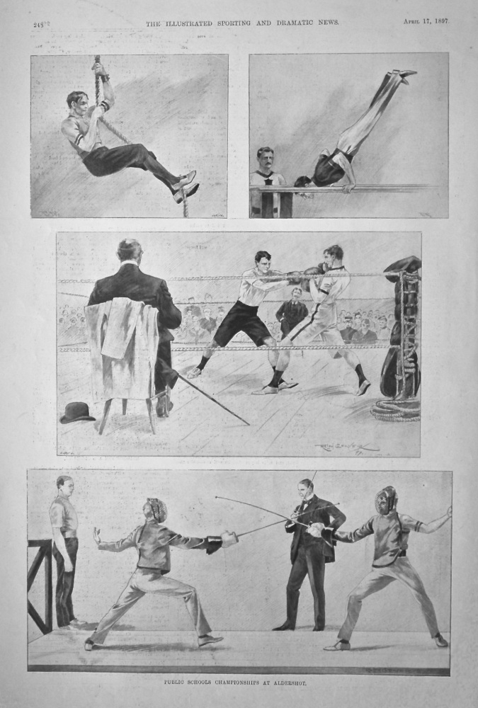 Public Schools Championships at Aldershot.  1897.
