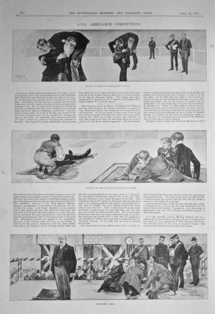 G.E.R. Ambulance Competitions.  1897.