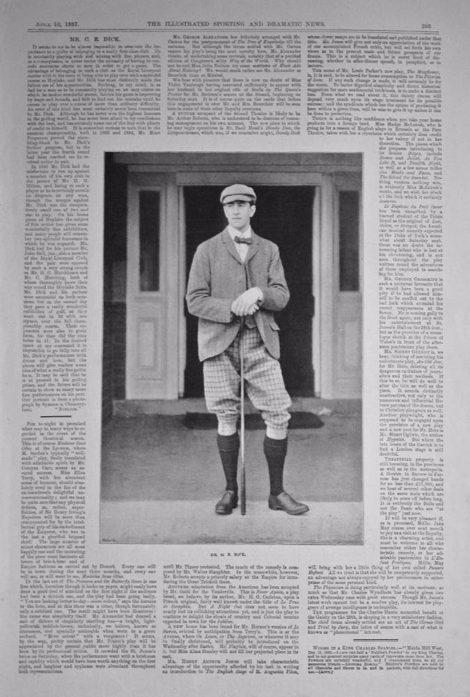 M. C. E. Dick.  (Golfer).  1897.