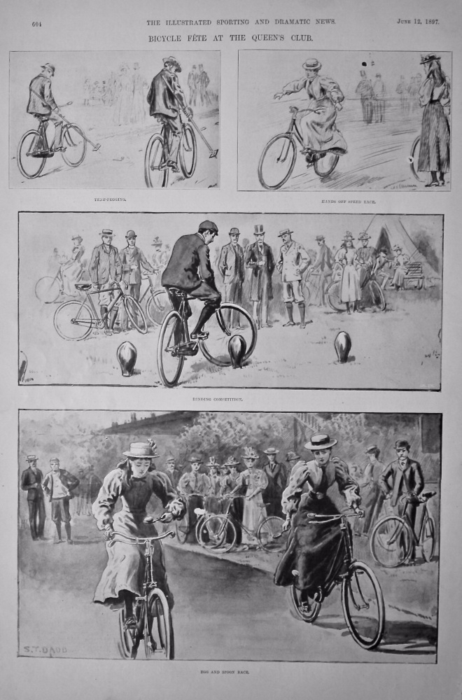 Bicycle Fete at the Queen's Club.  1897.