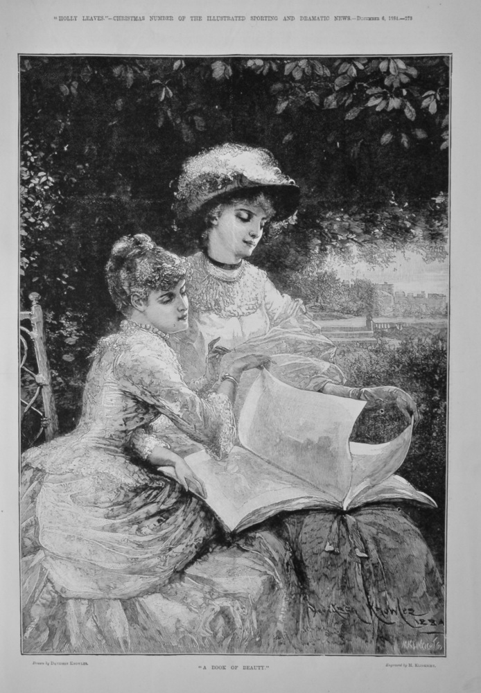 """A Book of Beauty.""  1884."