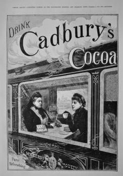 Cadbury's Cocoa.  1884.
