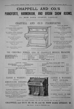 Chappell & Co.'s.  Pianoforte, Harmonium, and Organ Show Rooms, 50 New Bond Street, London.   1884.