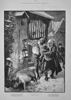 A Midnight Alarm.  1886.