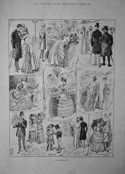 A Summer Rose Show.   1884.