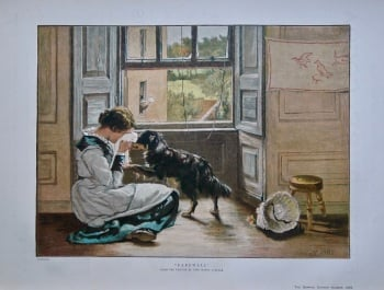 """""""Farewell"""". (From the picture by John Henry Lorimer).  1886."""