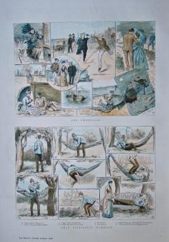 """Our Umbrellas"".  &  ""That Diabolical Hammock"".   1886."