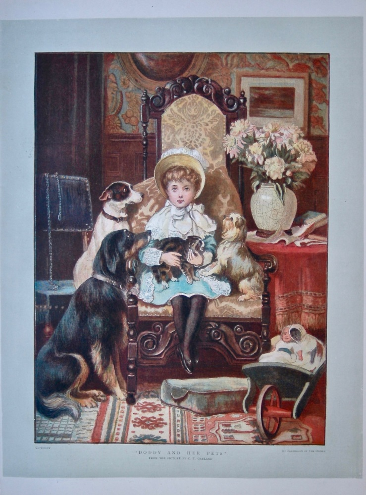 """""""Doddy and Her Pets"""".  1886."""