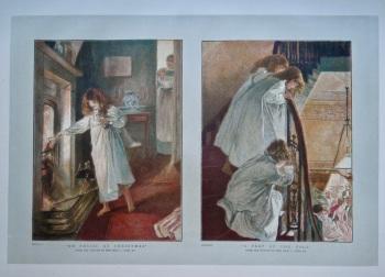 """""""No Physic at Christmas"""".  &  """"A Peep at the Ball"""".   1886."""