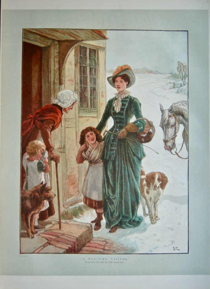 """""""A Welcome Visitor"""".   1886."""