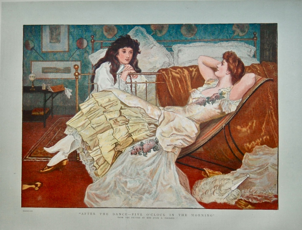 """""""After The Dance - Five O'Clock in the Morning"""".   1886."""