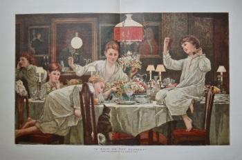 """A Raid on the Dessert"".  1885."