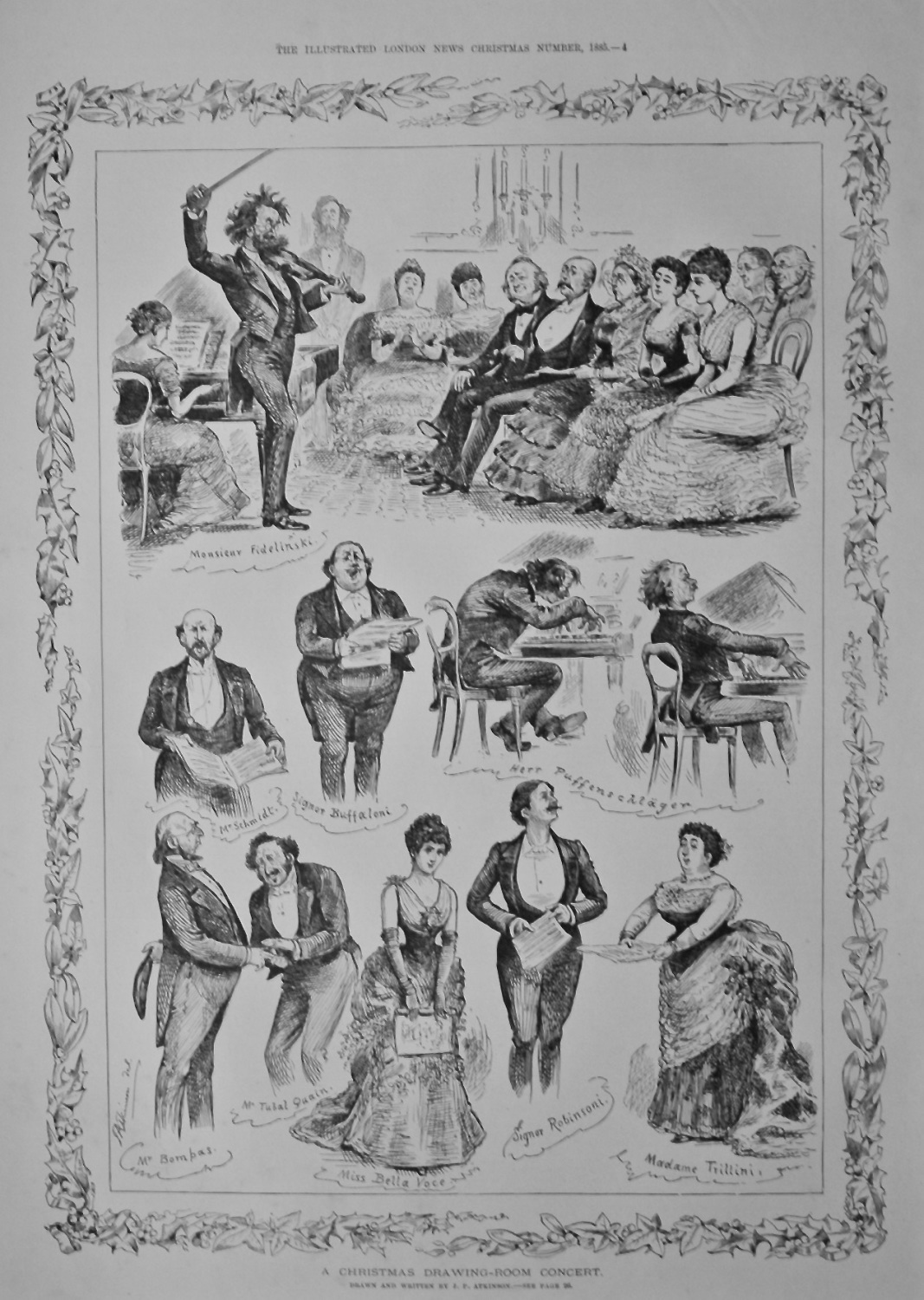 A Christmas Drawing-Room Concert.   1885.