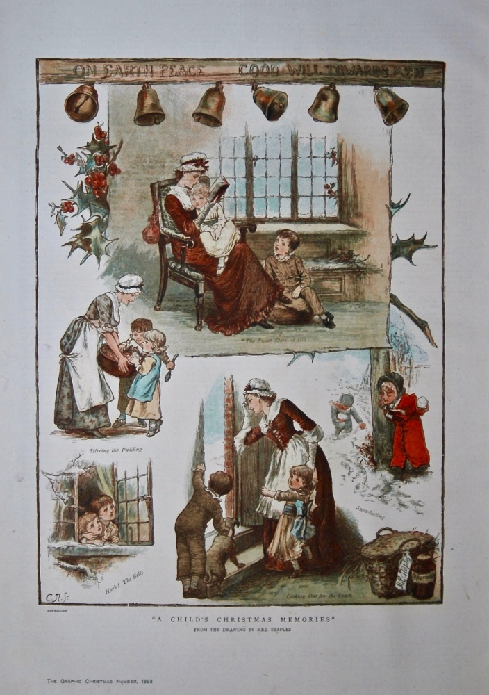 """""""A Child's Christmas Memories"""".  1883."""
