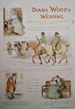 Diana Wood's Wedding.   1883.