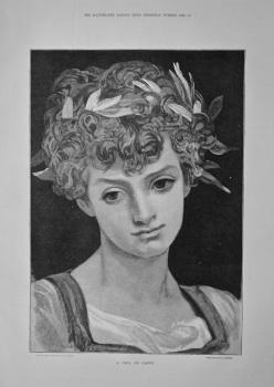 A Girl Of Capri.  1884.