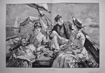 """""""Becalmed"""".  1885."""