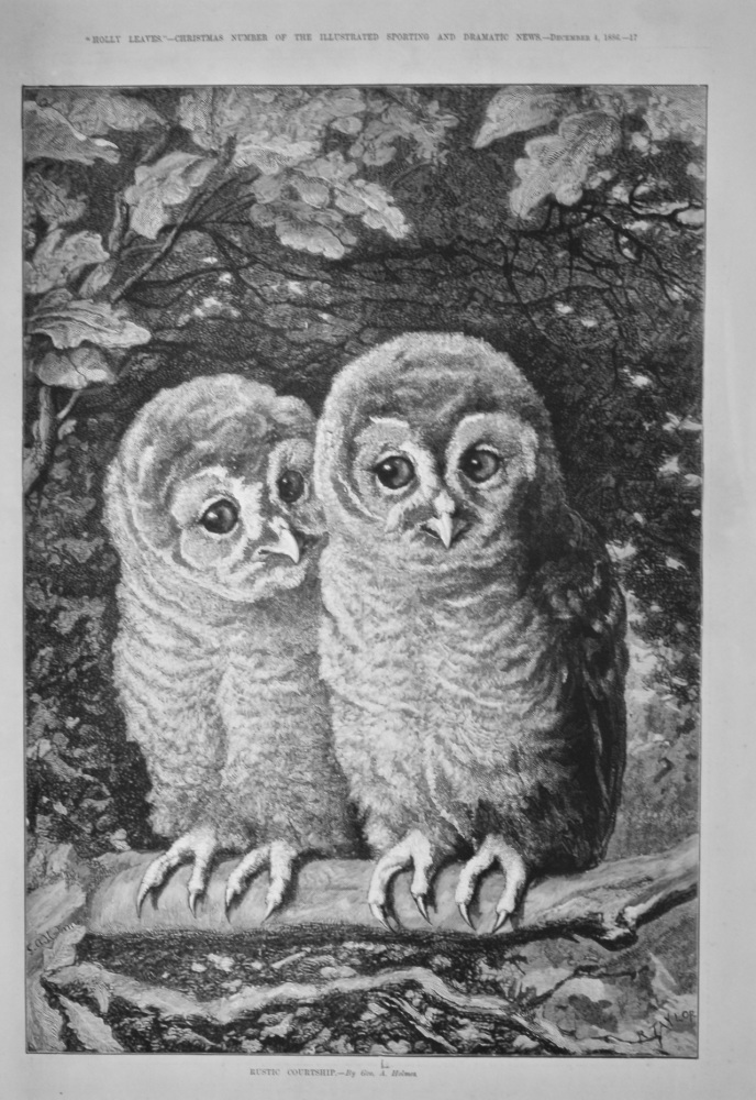 Rustic Courtship.  1886.