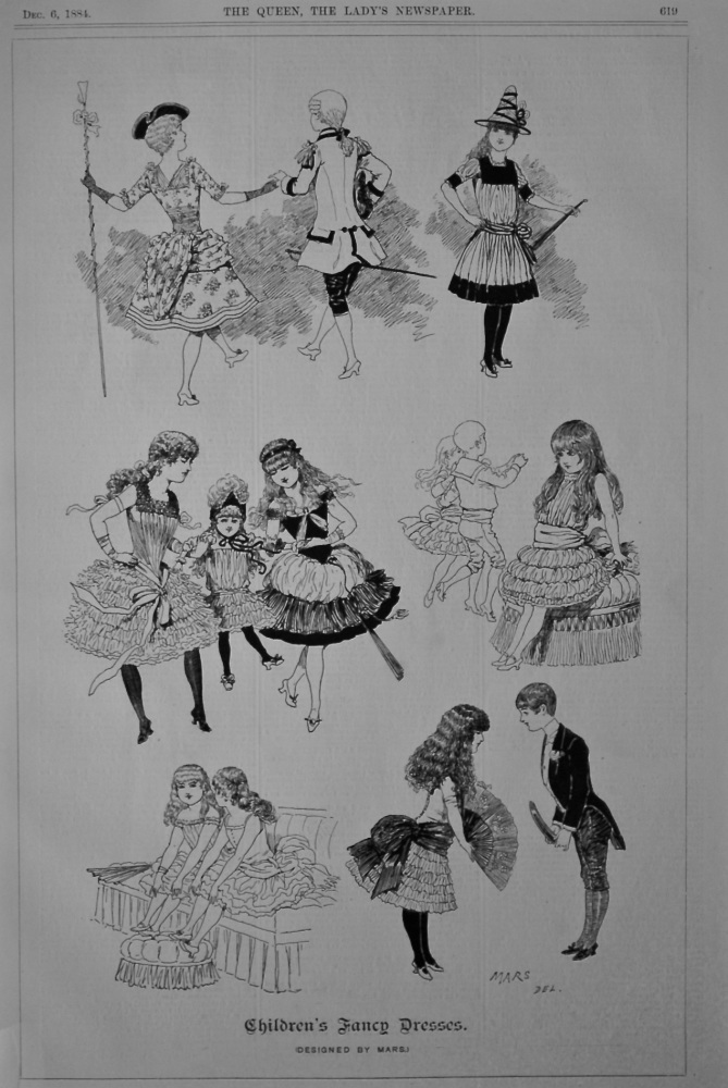 Children's Fancy Dresses. (Designed by MARS.)  1884.