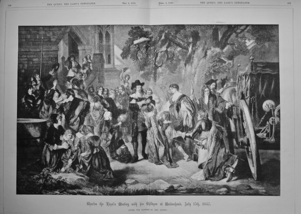 Charles the First's Meeting with his Children at Maidenhead, July 15th, 1647.