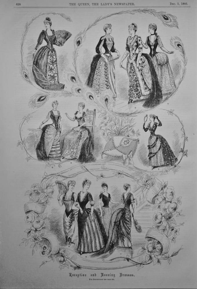 Reception and Evening Dresses. 1885.