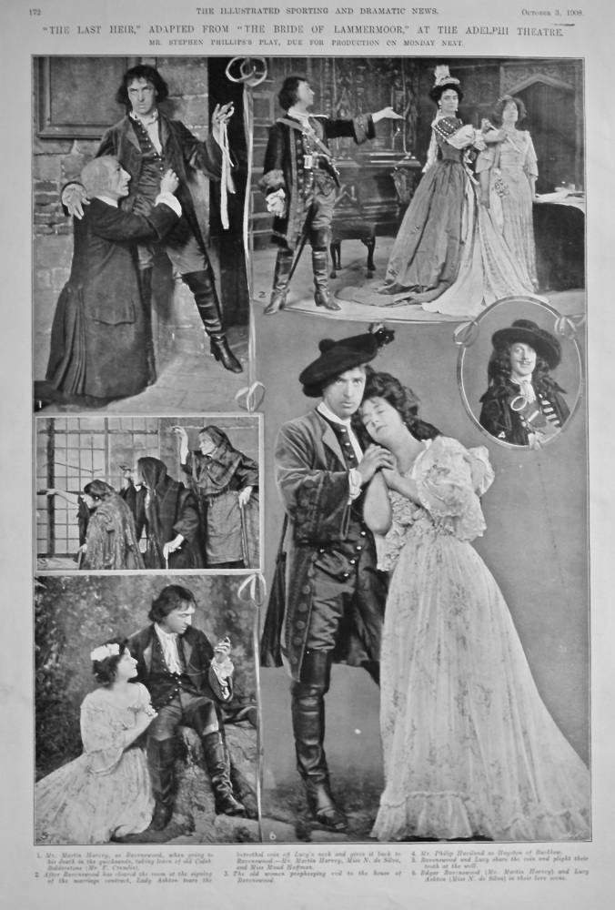 """The Last Heir,"" Adapted from ""The Bride of Lammermoor,"" at the Adelphi Theatre. 1908."