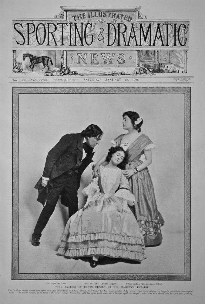 """The Mystery of Edwin Drood,"" at His Majesty's Theatre.  1908."