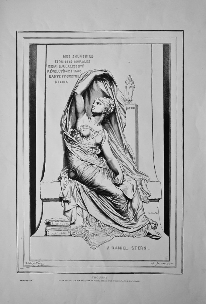 Thought. (From the Statue for the Tomb of Daniel Stern (Mme. D'Agoult), By H.M.A. Chapu.  1878c.