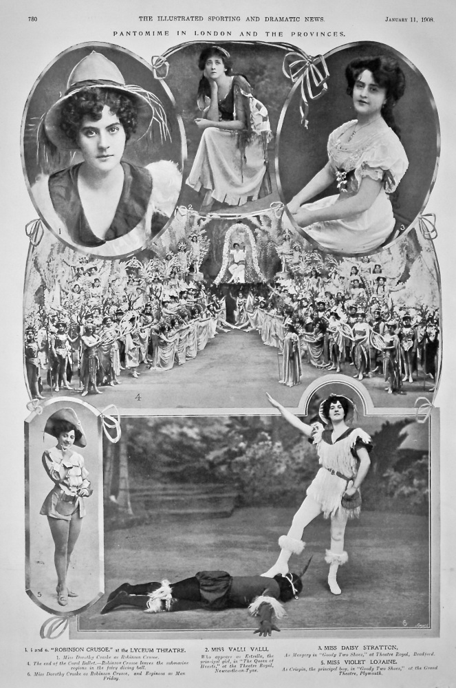 Pantomime in London and the Provinces.  1908.