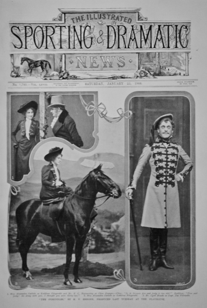"""""""The O'Grindles,"""" by H. V. Esmond, Produced Last Saturday at the Playhouse.  1908."""