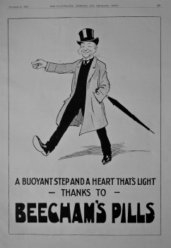 Beecham's Pills.  1908.
