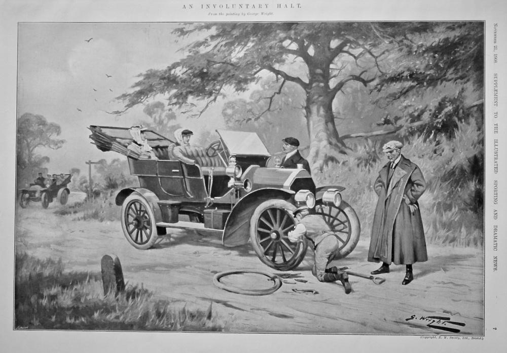 An Involuntary Halt.  1908.