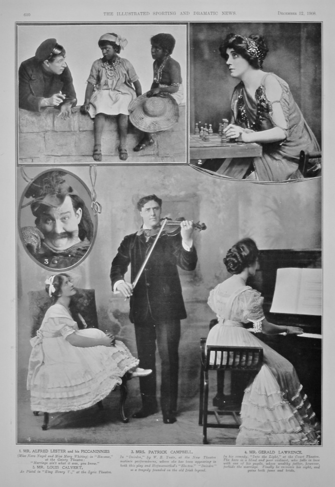 Actors and Actresses on the Stage.  1908.
