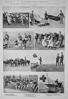 With the Territorial Camps on Salisbury Plain. 1908.