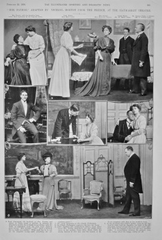 """""""Her Father,"""" Adapted by Michael Morton from the French, at the Haymarket Theatre. 1908."""
