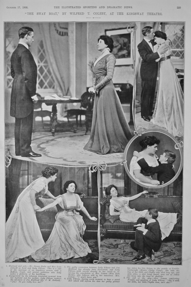 """""""The Sway Boat,"""" by Wilfred T. Coleby, at the kIngsway Theatre.  1908."""