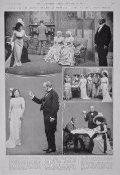 """""""Fanny and the Servant Problem,"""" by Jerome K. Jerome, at the Aldwych Theatre.  1908."""