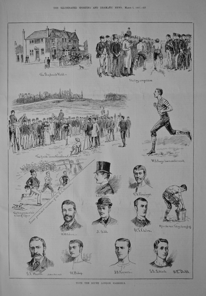 With the South London Harriers.  (Athletics)  1883.