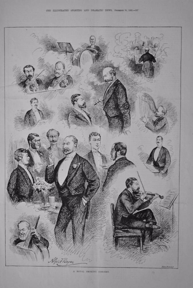 A Royal Smoking Concert.  1882.