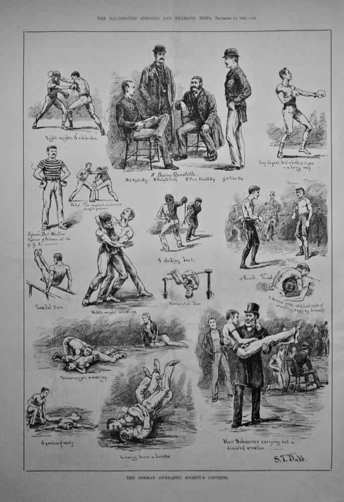 The German Gymnastic Society's Contests.  1882.