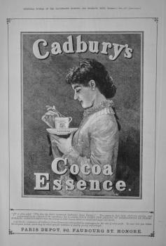 Cadbury's Cocoa Essence.  1882.