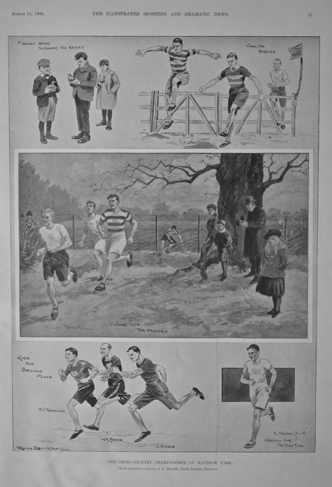 The Cross Country Championship at Haydock Park.  1903.