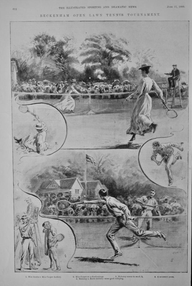 Beckenham Open Lawn Tennis Tournament.  1899.